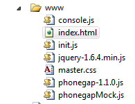 www folder in WCF Rest Services Web Application